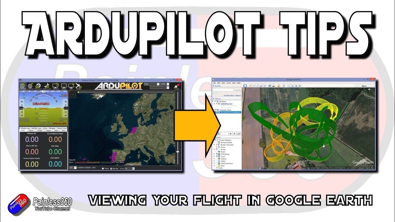 Ardupilot Quick Tip: Viewing your flight in Google Earth