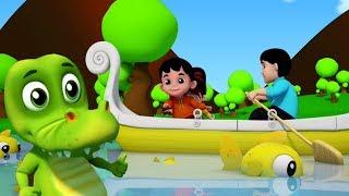 hàng hàng hàng thuyền của bạn   3D bài hát ở việt nam   3D Nursery Rhymes   Row Row Row Your Boat