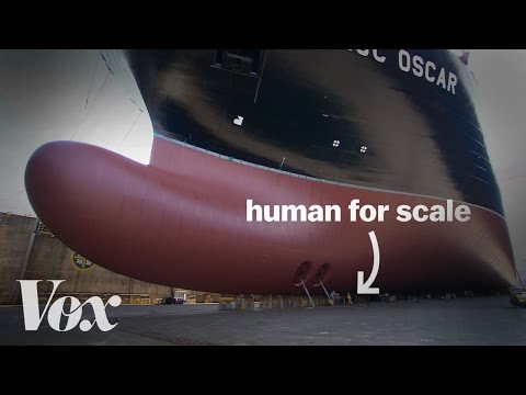 Meet the enormous boats that carry your stuff