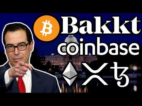 ⭐️BITCOIN & CRYPTO Stock Crash - Mnuchin Hires Coinbase CLO - Bakkt $300M Funding - Tezos $200M 3