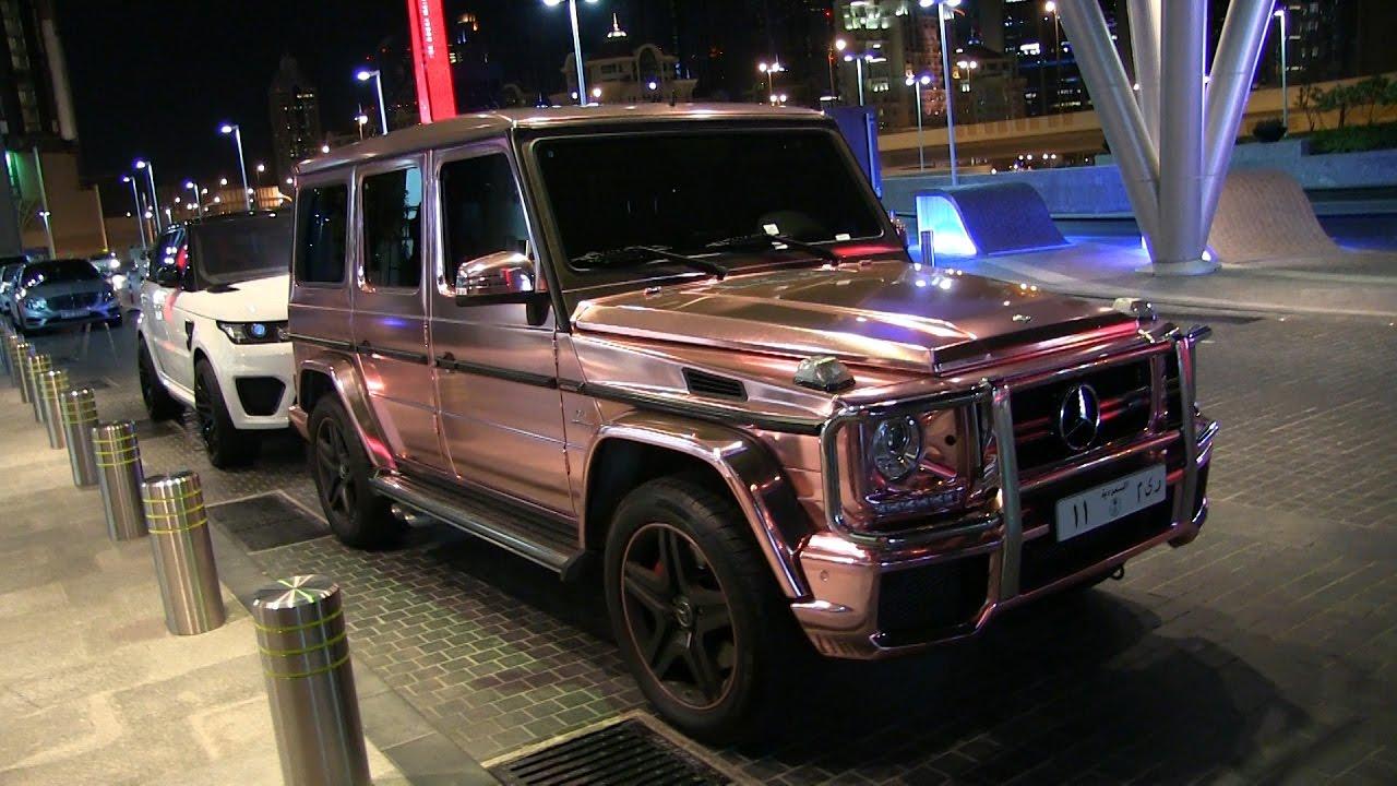 Mercedes Benz G63 Amg Quot Gold Wrapped Quot Nissan Gtr Quot Grey