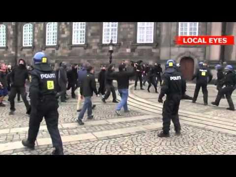 Voldsomme uroligheder i København