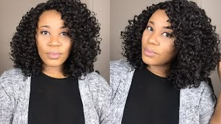 Quick And Easy | Under $20.00 Affordable Curly Wig 💁🏽| Outre Quick Weave