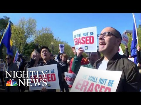 Protests As President Donald Trump Administration Considers Re-Defining Gender | NBC Nightly News