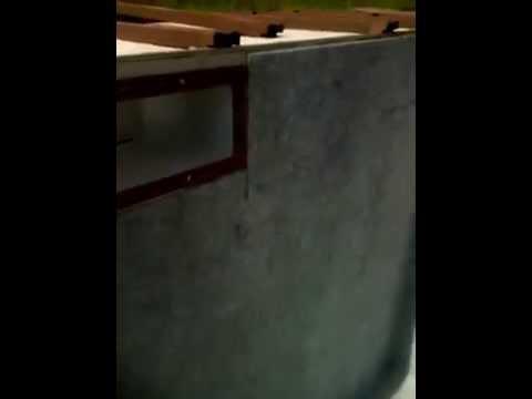 Etape 1 pose feutre sur les murs youtube for Pose feutre piscine
