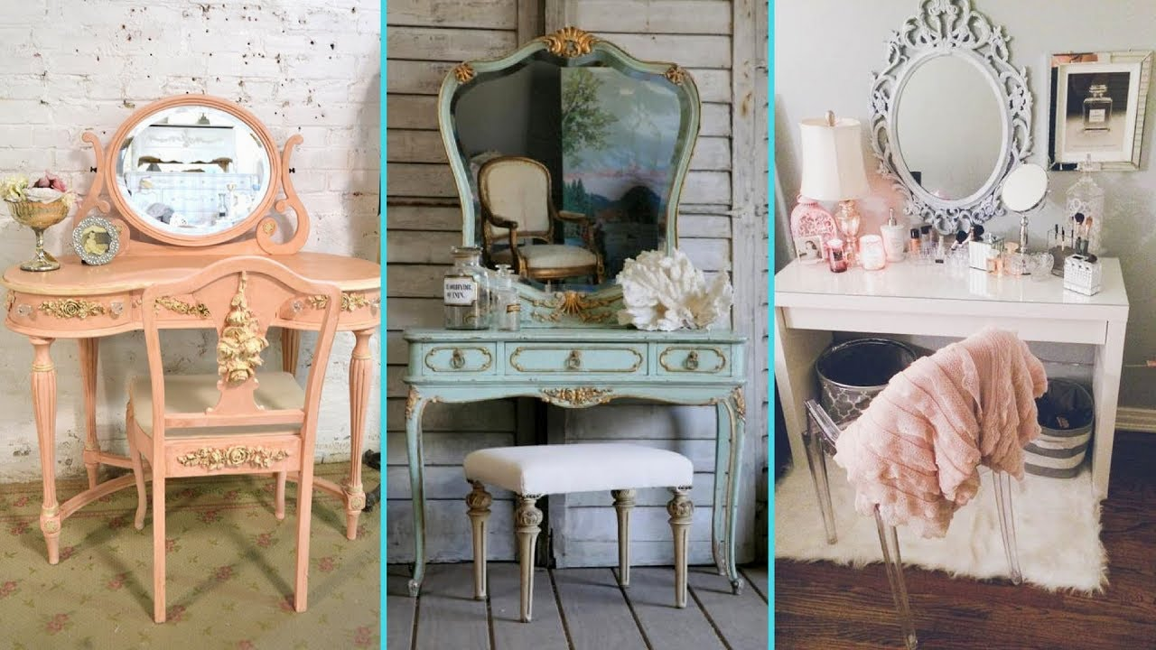 DIY Vintage Shabby Chic Vanity Decor Ideas 2017