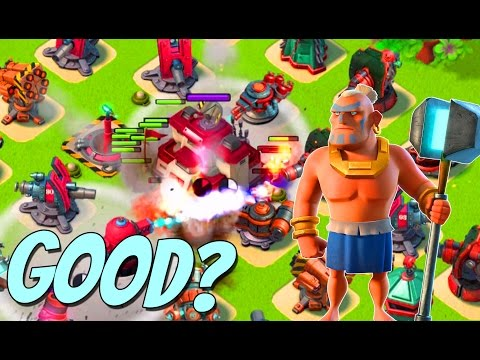 Are Warriors Still a Viable Attack Strategy? Boom Beach Captain Everspark Gameplay - 동영상