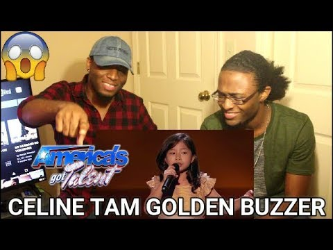 Celine Tam: Adorable 9-Year-Old Earns Golden Buzzer From Laverne Cox - AGT 2017 (REACTION)