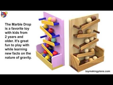 Wood Toy Plans - Marble Drop Learning Toys