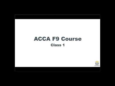 ACCA F9 Course Investment Appraisal 01 Accounting Rate of Return
