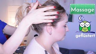 ASMR Massage - Nacken, Schultern, Kopf (geflüstert)