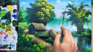 Dạy Vẽ Tranh Phong Cảnh Bài 5, (học vẽ online miễn phí).