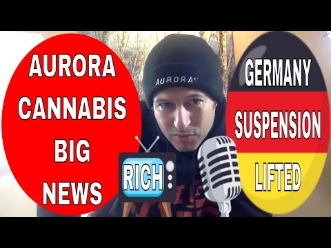 Aurora Receives EU GMP Certification - Germany Suspension Lifted 😍