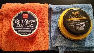 Meguiars Gold Class Carnauba Paste Wax Vs Griots Garage Show Paste Wax(Water test)
