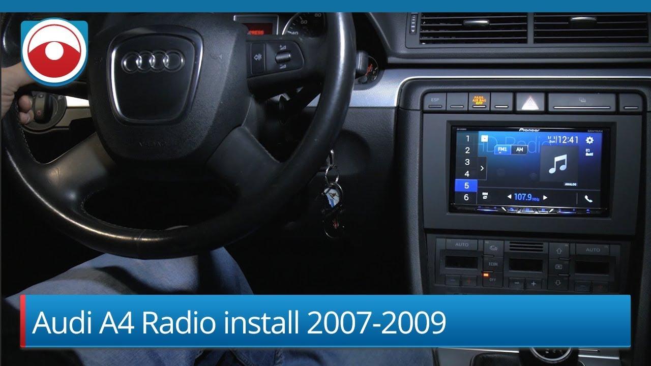 2007 audi a4 symphony wiring radio audi a4 2007 2008 radio installation youtube  audi a4 2007 2008 radio installation