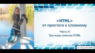 Обучение HTML. Часть 6. Три вида списков HTML