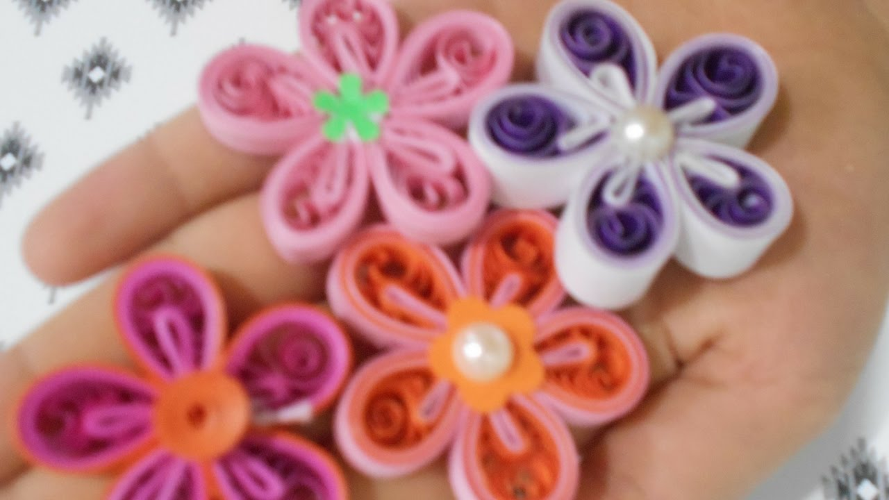 how to make a quilling malaysian flower 4 different types youtube rh youtube com