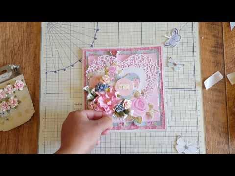 Shabby Chic Card Tutorial Using Tattered Lace Ornamental Vintage Heart Die
