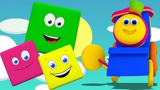 Bob trem cor passeio | Aprender cores | Nomes das cores em português | Bob The Train | Color Ride