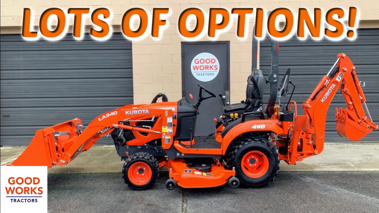 Options For Kubota BX23s BX2380 BX2680 Tractors! Backhoe Thumb, 3rd  Function, Bolt-on Cutting Edge!