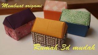 Origami rumah kertas cara membuat origami rumah 3d