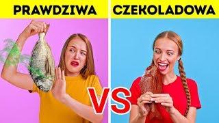 WYZWANIE – PRAWDZIWE PRZEDMIOTY VS CZEKOLADA    Zabawne Żarty od 123 GO! Challenge