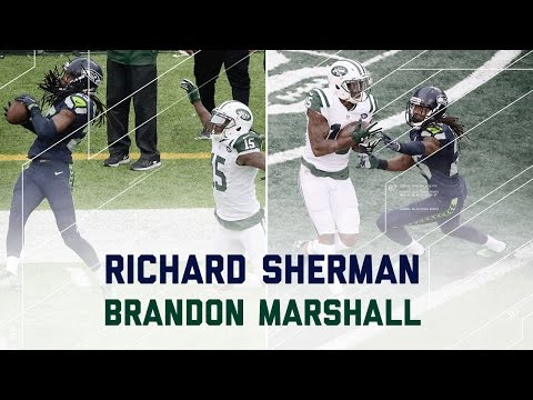 Richard Sherman vs. Brandon Marshall | Seahawks vs. Jets | NFL Week 4 Player Highlights