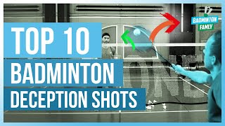 Top 10 BADMINTON DECEPTION TRICK SHOTS | Badminton Famly