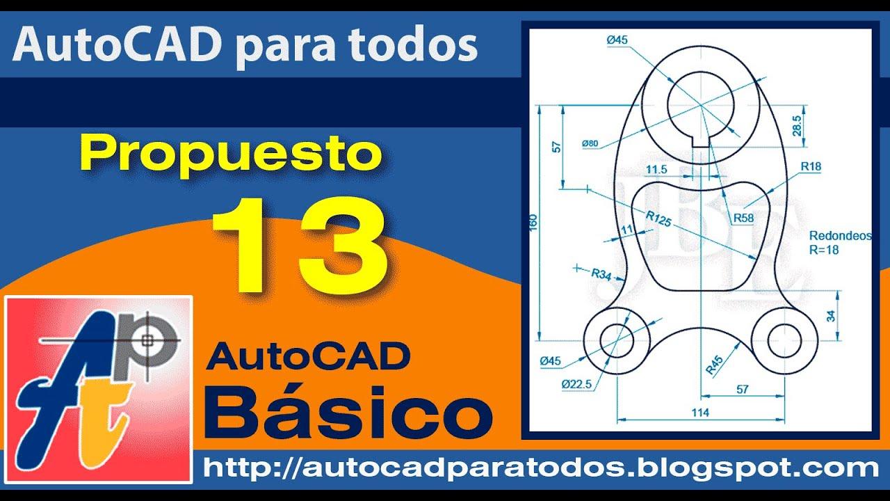 Solución Ejercicio Propuesto 13 - AutoCAD Básico