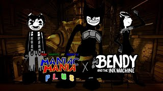 Sammy, Alice Angel and Ink demon in fnas maniac mania (song face reality)