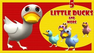 Five Little Ducks went out one day | English Nursery Rhymes for Children | 3D Cartoon Animation