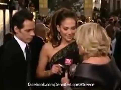 Jennifer Lopez & Marc Anthony - Golden Globes 2007 Interview