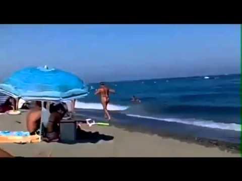 Буфера на пляже видео