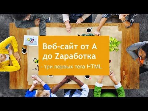 Начинаем изучать HTML - первые три тега