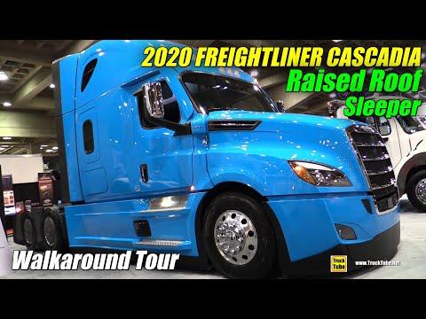 2020 Freightliner Cascadia Raised Roof Sleeper - Exterior, Interior Walkaround - 2019 Expocam