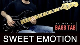 SWEET EMOTION - Aerosmith - Bass Cover /// Bruno Tauzin