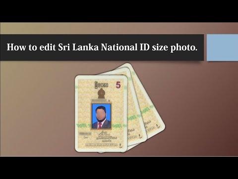 How to edit Sri Lanka National ID size photo using photoshop
