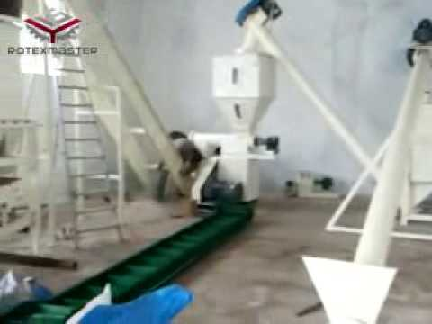 1ton per hour feed pelle production line for chicken farming