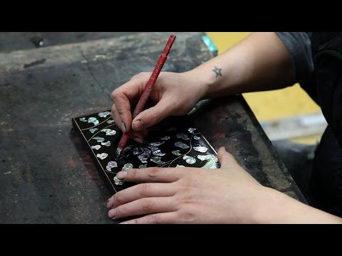 Making Mother-of-Pearl Lacquerware