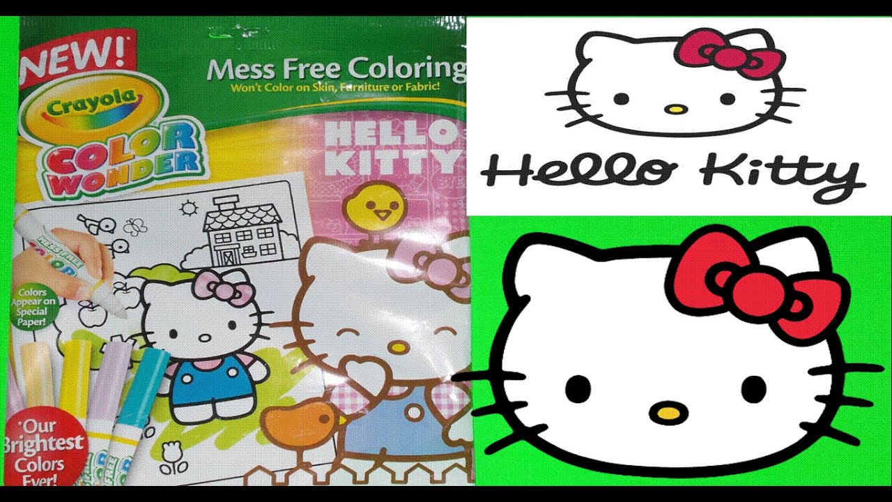 CRAYOLA COLOR WONDER FROM TOYSRUS HELLO KITTY MAGIC COLOURING BOOK