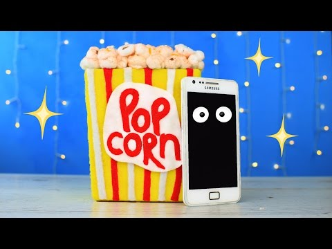 DIY Popcorn Phone Docking Station