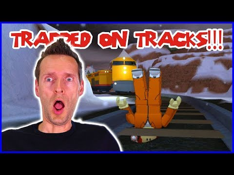 Trapped on the Train Tracks!!! in Jailbreak
