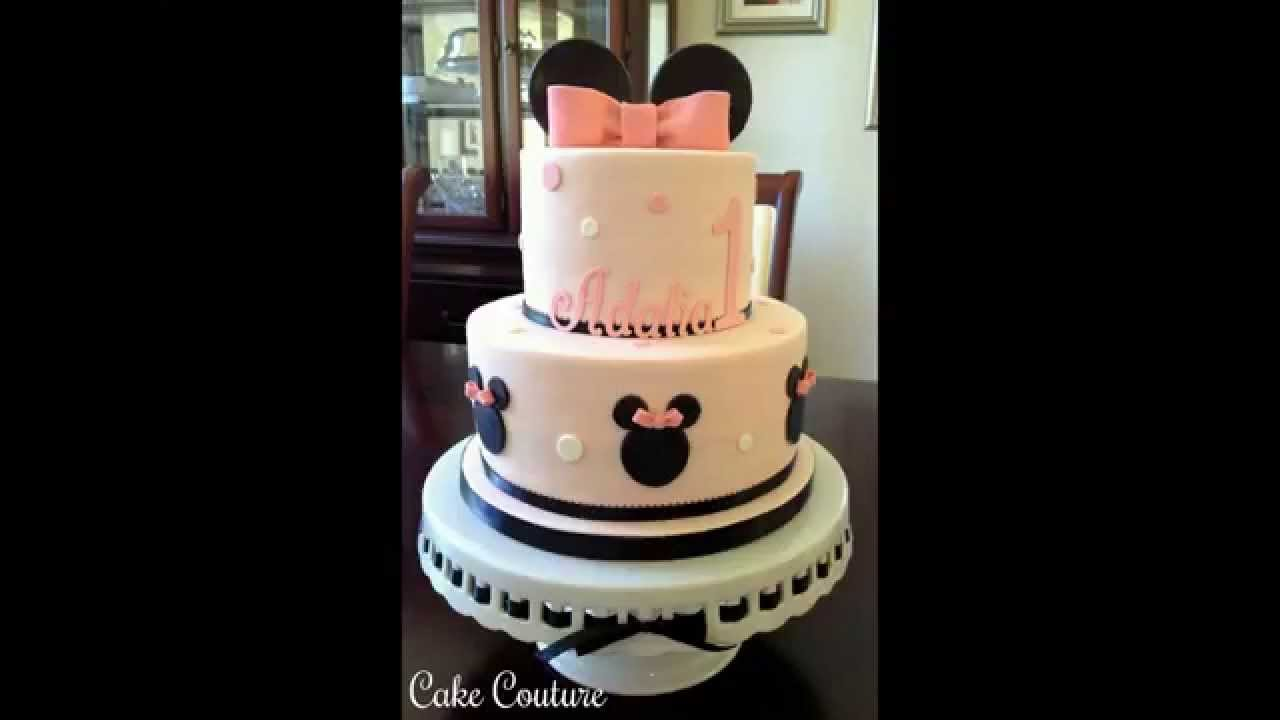Minnie Mouse Birthday Cake How To Make Cute Minnie Ears
