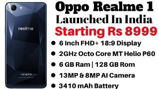 Oppo Realme 1 With Up to 6GB RAM, AI Camera, Launched in India - New Xiaomi Killer ??