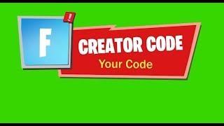 CREATOR-CODE Alert Fortnite drop-down (free and custom!)