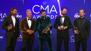 Old Dominion Chats Backstage at the CMA Awards 2018