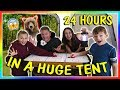 24 HOURS IN A TENT - OVERNIGHT CHALLENGE | We Are The Davises