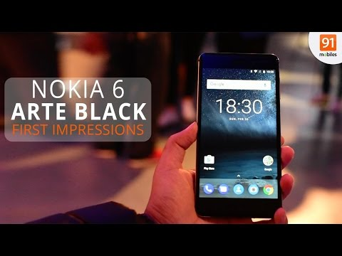 Nokia 6 Arte Black: First Look | Hands on | Launch | MWC 2017
