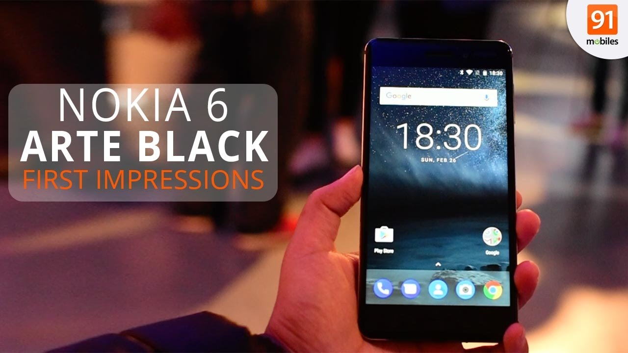 Nokia 6 Arte Black Video Nokia 6 Arte Black First Look Hands On Launch Mwc 2017