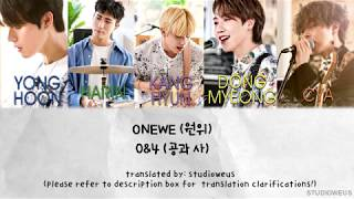 Title: 0&4 artist: onewe (원위) album: 1/4 released: 19.05.13 translation clarifications: going to offer my own two cents and give an overview of what i think ...